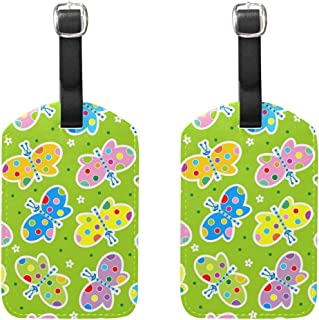 MASSIKOA Butterfly Cruise Luggage Tags Suitcase Labels Bag,2 Pack