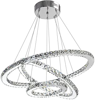 Modern Crystal Chandelier Lighting Ceiling Dining Room Living Chandeliers Contemporary Led Light Fixtures Hanging 3