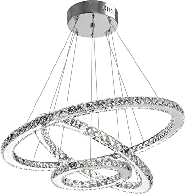 Ceiling Lights & Fans Ceiling Lights Modern Creative Led Ceiling Lamp Living Room Bedroom Ring Crystal Indoor Led Shine Dimming Ceiling Light Fixtures Ac110-240v