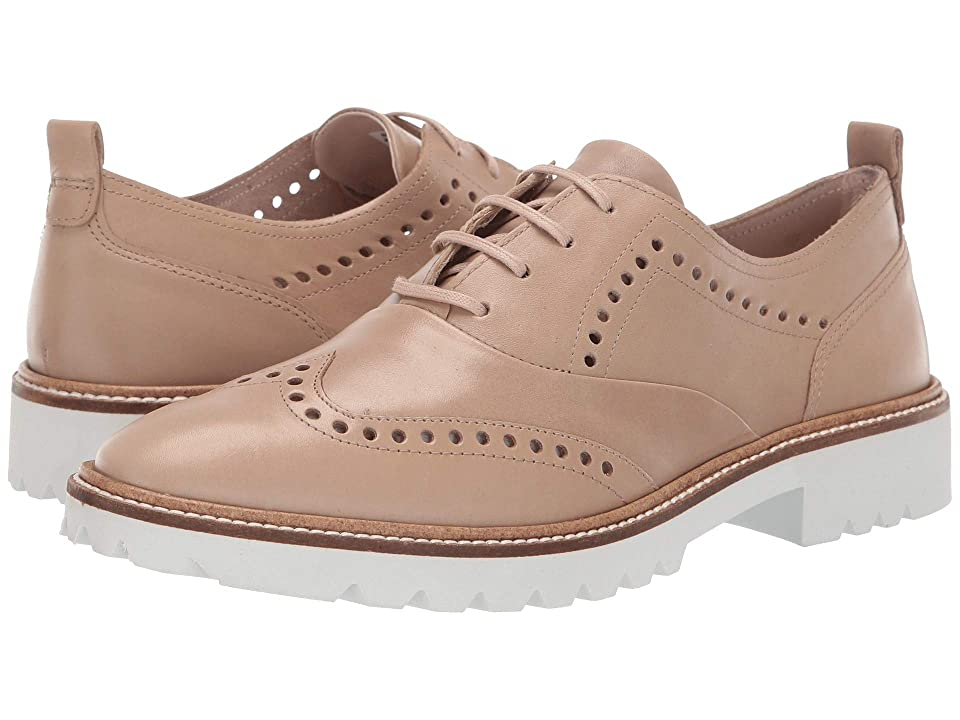 ECCO Incise Tailored Wing Tip (Dune Calf Leather) Women