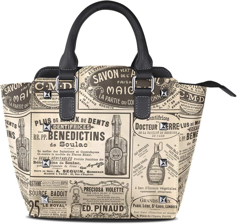 Ladies Genuine Leather Tote Bags Time Newspaper Womens Hangbags Shoulder Bags