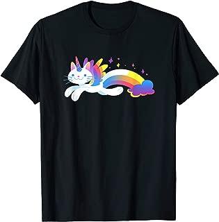 Unicorn Kitty Rainbow T-Shirt - Flying Unicat Caticorn