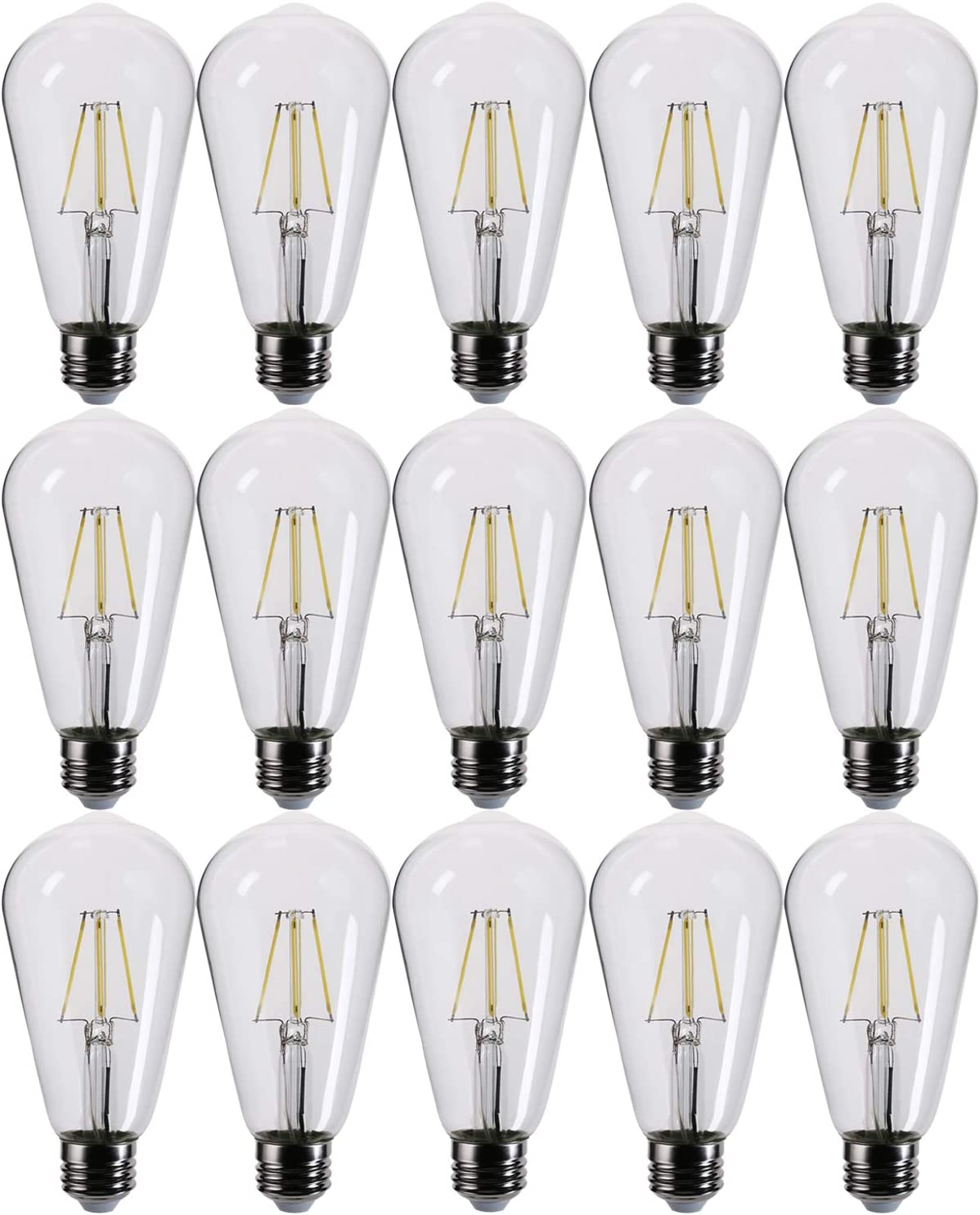 FLILED Portland Mall LED Edison Bulbs 60W Vintag Dimmable Equivalent 7W Clear New sales