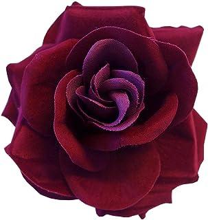 Clip Grande Borgoña Rojo Oscuro Día Gótico De Pelo Muerto La Rosa Flor