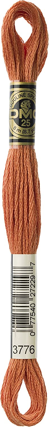 DMC Thread 6-Strand Embroidery Branded goods Cotton 8.7 Shipping included 1 Light Yards Mahogany