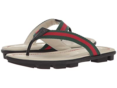 Gucci Kids Titan Beach Flip-Flop (Little Kid) (Orange/Nero) Kids Shoes