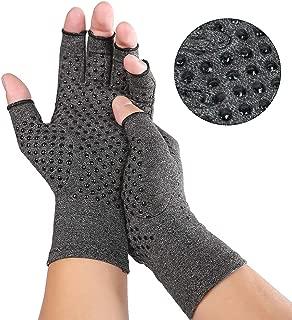Arthritis Compression Gloves for Men Women for Arthritis Hands, Fingerless Arthritis Gloves for Rheumatoid and Osteoarthritis, Compression Gloves for Arthritis Pain Relief (Medium)