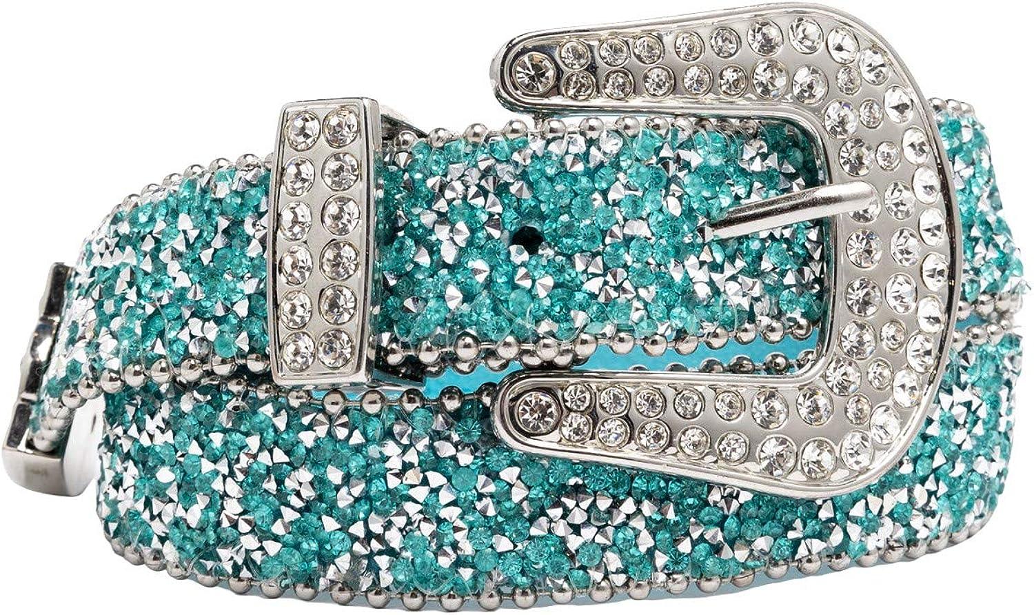 Shyanne Girls' Turquoise Shimmer Glitz Belt - K511-Trq