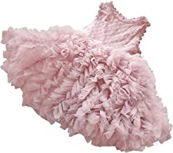 NNJXD Little Girl Tutu Dress Tulle Ruffles Flower Girls Wedding Party Dresses