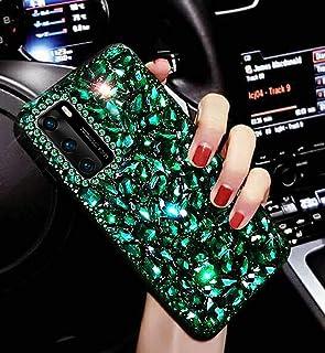 Glitter mobiltelefonfodral för Huawei P40 fodral, flickor kvinnor glänsande strass mobiltelefon skyddande fodral hårt fodr...