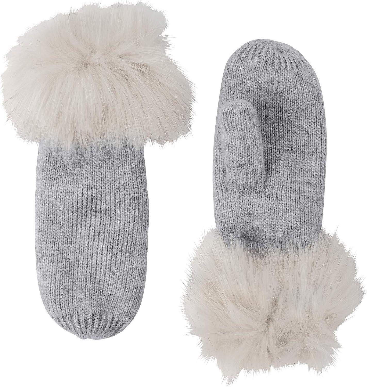 ellos Women's Plus Size Rib Knit Mittens