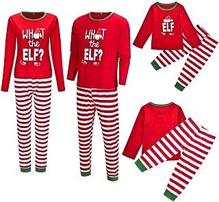 Matching Family Pajamas Set Christmas Sleepwear Cotton Kids PJs Printed Letter Stripe Family Clothes Women Men Pyjamas