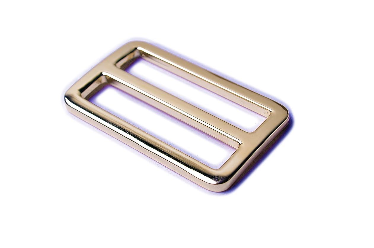 Bobeey 5pcs 1 1/4'' Light Gold Flat Metal Adjuster Sliders,Belt Sliders,Buckle Triglide For Strap Keeper Leathercraft Bag Belt Adjuster Sliders BBC9 (1 1/4 Inch, Light Gold) vtwkyppddza60335