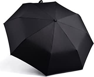 Windproof Umbrella, Automatic Umbrellas Auto Open Close for Men/Women, Outdoor Travel Folding Travel Umbrella,Folding Short Umbrella (Black)