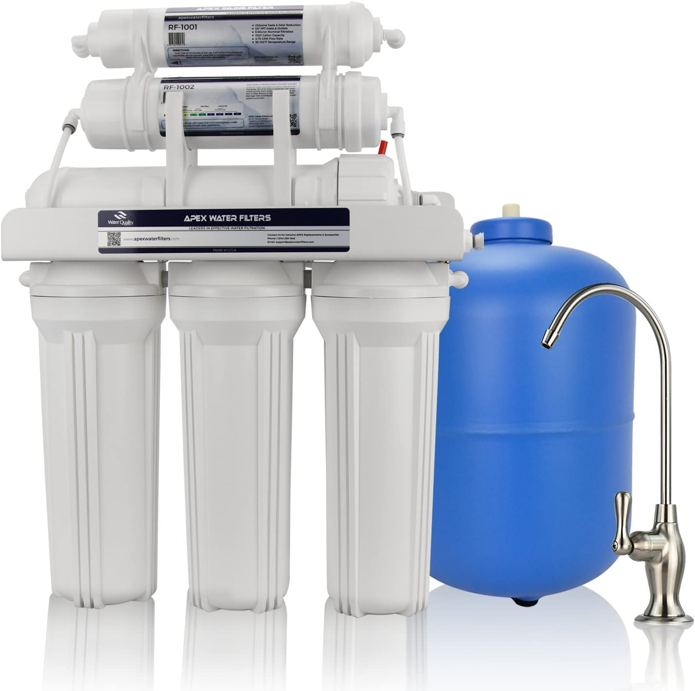 APEX 5 ☆ popular MR-6050 6 Stage Alkaline Reverse Water Sys Very popular Osmosis Drinking