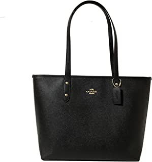 Coach Crossgrain Leather City Zip Tote Purse Bag Handbag