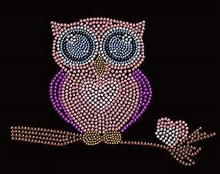 Owl Rhinestone Iron On Heat Press Children T-Shirt design Infant Love Owl