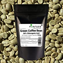 NutricsA 7200mg Green Coffee Bean Extract 50 CGA 360 Capsules 1 Year Supply Made in The UK by Nutrics Laboratories Suitable for Vegan Vegetarian Halal Kosher Estimated Price : £ 41,99