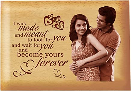 Presto Gift For Boyfriend Or Girlfriend Love Gift Anniversary Gift BirtHDay Gift Valentine'S Day Gift Corporate Gift Wooden Photo Frame