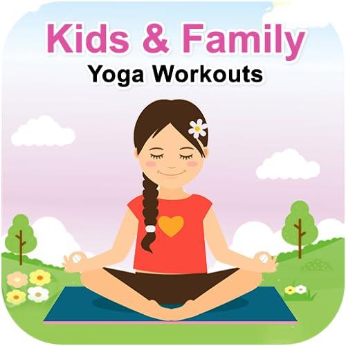 Exercícios de ioga para crianças e família