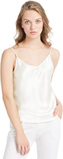 LilySilk Basic Womens Silk Camisole 100 Pure Mulberry Silk Tank Tops & Ladies Cami Top with Soft Satin
