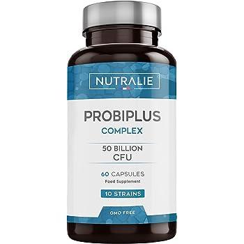 Probiotici 50 Miliardi di UFC per dose | 10 Ceppi di Cellule Vive | 60 Capsule Vegetali Gastroresistenti | Probiotici Complex | Prodotto da Nutralie