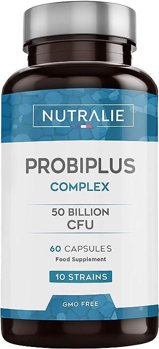 Probiotici 50 miliardi di ufc per dose | 10 ceppi di cellule vive | 60 capsule vegetali NUTPRO60