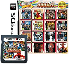 $29 » 488 in 1 Game Cartridge, DS Game Pack Card Compilations, Super Combo Multicart for Nintendo DS, NDSL, NDSi, NDSi LL/XL, 3D...
