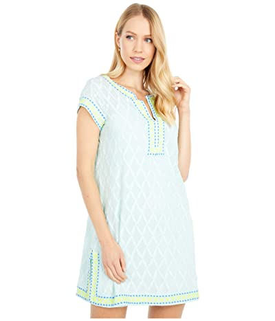 Vineyard Vines Citrus Embroidered Cover-Up (Crystal Blue) Women