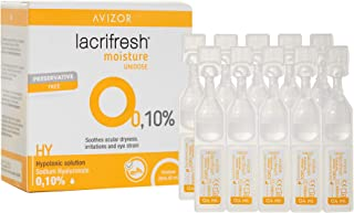 Avizor Lacrifresh Moisture 0,10%. Monodosis 20 ampollas 0,4
