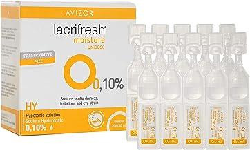 Avizor Lacrifresh Moisture 0,10%. Monodosis 20 ampollas 0,4 ml de gotas oculares para aliviar los síntomas de la irritación ocular.