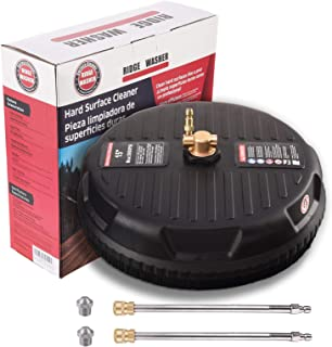 RIDGE WASHER Surface Cleaner for Pressure Washer, with 2 Replacement Screw Nozzle and Wand Extension, 15 Inch, 3600 PSI
