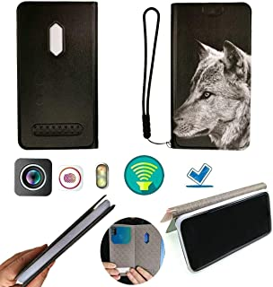 FY Flip Case For Tecno Spark 4 Lite Cover Flip PU Leather + Silicone Ring case Fixed HSL
