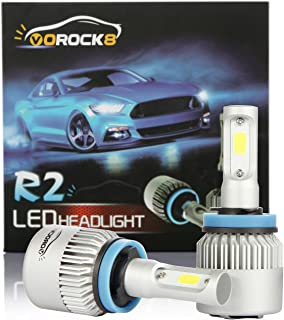 VoRock8 R2 COB H11 H8 H9 H16 8000LM LED Headlight...