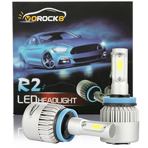 VoRock8 R2 COB H11 H8 H9 H16 8000LM LED Headlight Conversion Kit, Low Beam headlamp