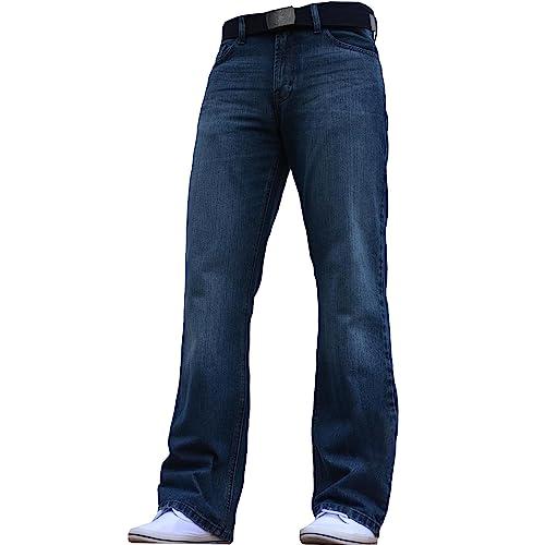 daac8785e85 BNWT Men s Wide Leg Bootcut Flared Blue Heavy Denim Jeans