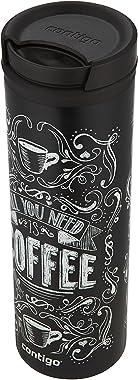 Contigo 2002764 TWISTSEAL Eclipse Vacuum-Insulated Stainless Steel Travel Mug, 20 oz, All You Need is Coffee
