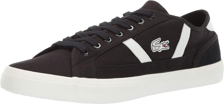 Lacoste Men's Sideline Sneaker Black Off White 12 Medium US