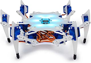 STEMI Hexapod Robot - DIY Educational Robotic kit for Kids - 150 Educational Lessons - Online STEAM Laboratory - Learn 3D Modeling - Build a Mobile Application - Voice Control - Arduino Programming