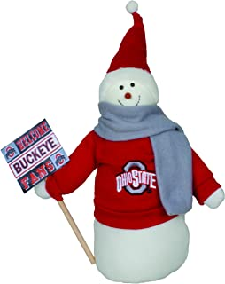 Santa's Workshop OHB071 Ohio State Snowman Fan Figurine, 12