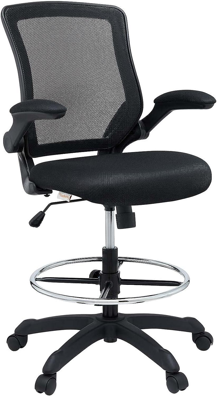 Modway Veer online shop Drafting Super-cheap Chair - Flip-Up Arm Reception Desk