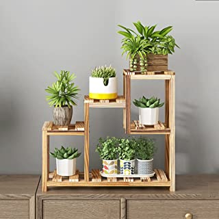 Bandeja de flores de madera maciza creativa de estilo japonés, Racks de flores de interior y al aire libre, Bandeja de ventana de dormitorio flotante Bandeja de flores de escritorio, Racks de almacenamiento pequeño, Racks de exhibición, 40 * 56cm