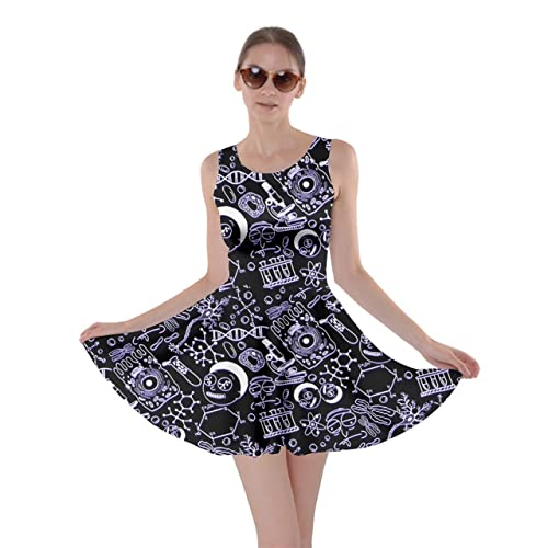 78983f38f5da CowCow Womens Rick Morty Meeseeks Destroy Mooncake Final Space Mrs Frizzle  Space Skater Dress, XS