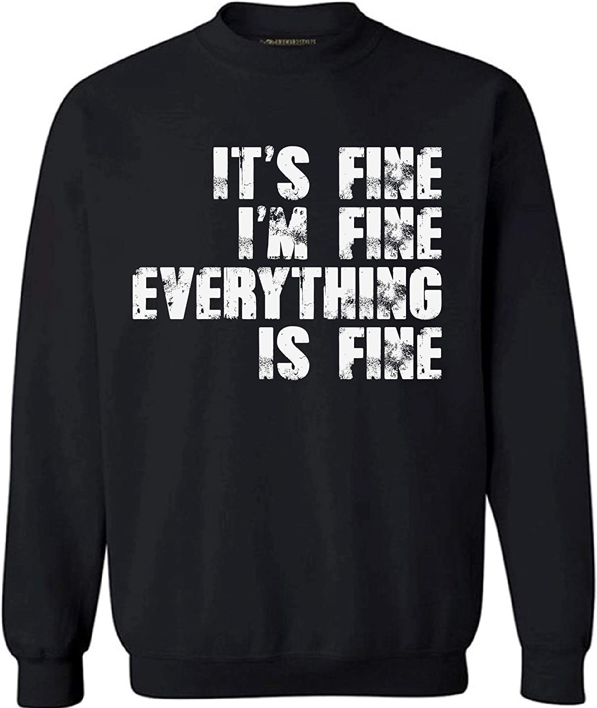 Humour Sweater for Women Men Sarcastic Anxiety Sweatshirt Mental Health Novelty Geek Top I'm Fine