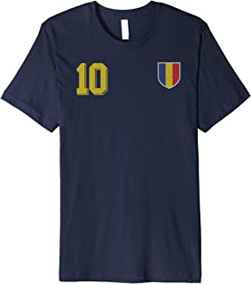 Romania or Romanian in Football Soccer Style Premium T-Shirt