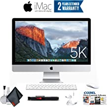 Apple iMac 27-Inch Retina 5K Desktop MK472LL/A (3.2 GHz Intel Core i5, 8GB RAM, 1TB Fusion) + Ear Buds, Corel Software (Renewed)