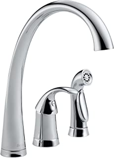 Delta Faucet Pilar Single-Handle Kitchen Sink Faucet with Side Sprayer in Matching Finish, Chrome 4380-DST