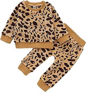 Felpe a Manica Lunga con Stampa Leopardo Infantile di Tute Autunnali URMAGIC Set di Vestiti per Neonate