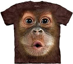 Baby Orangutan Face T-Shirt Oversized Mountain Wild Animal 100% Cotton Adult