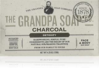 Grandpa's Soap Co. - Face & Body Bar Soap Charcoal - 4.25 oz (pack of 2)